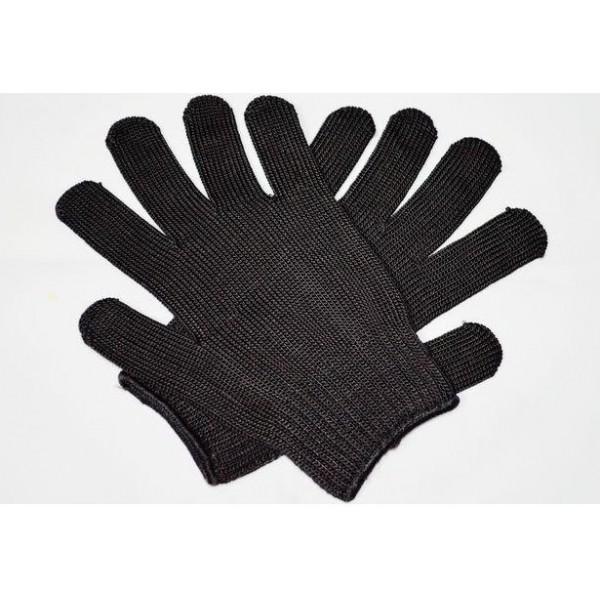 Перчатки с арамидным волокном, не прорезаемые (черный)
