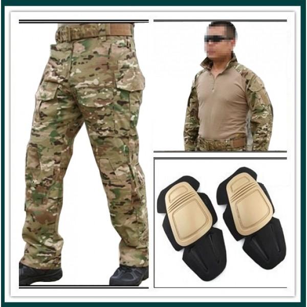 Тактический костюм Emerson Multicam (Рубашка, штаны + наколенники).