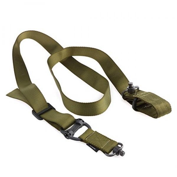 Тактический оружейный ремень с антабками Magpul MS4 Dual Sling QD (Реплика) (олива)